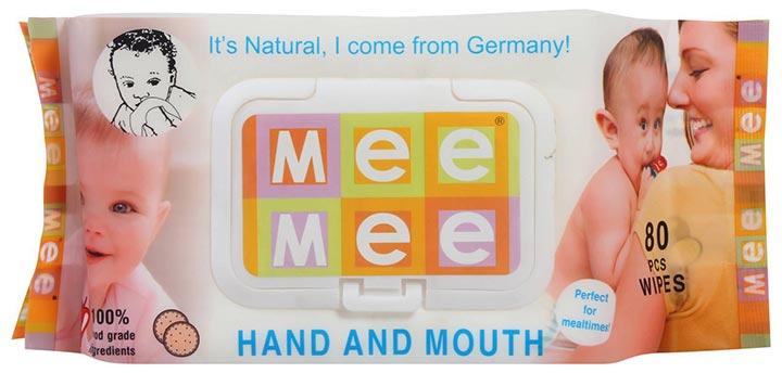 mee mee hand & mouth wipes