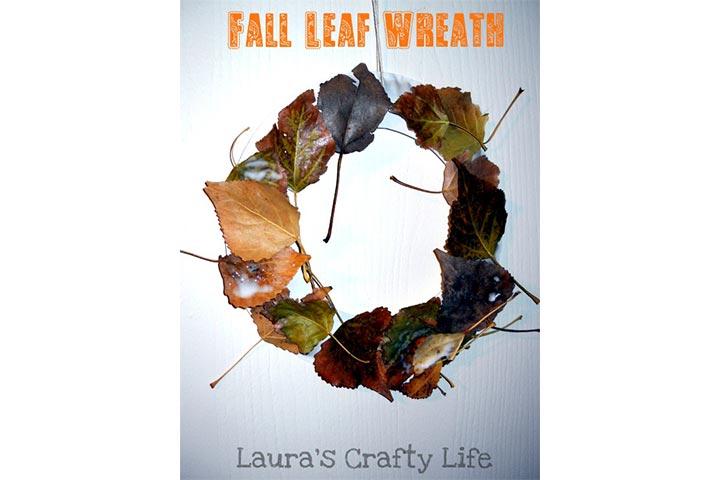 leafy autumn wreath