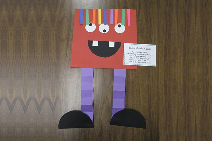 shape monsters - Halloween Simple Crafts