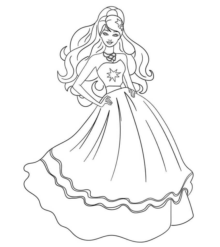 Top 50 Free Printable Barbie Coloring