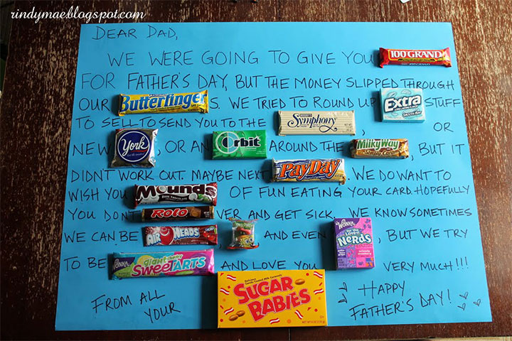 father's day cards with a food theme