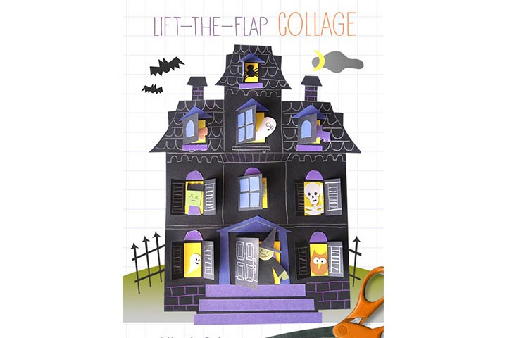 lift the flap haunted house