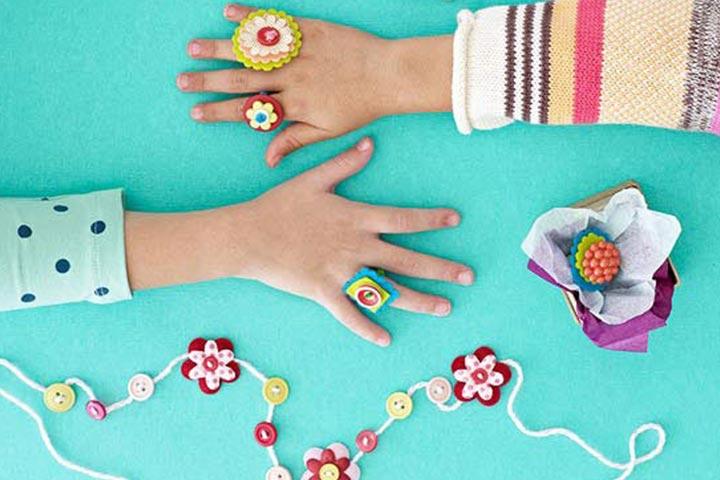 felt flower rings