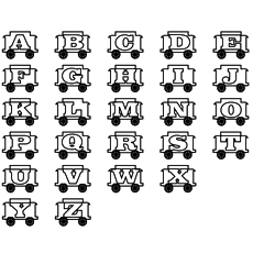 Alphabet Train Coloring Pages Free Printable
