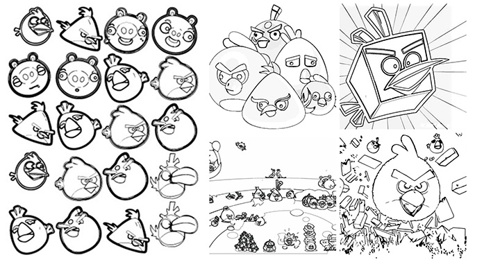Angry Birds Go Coloring Page Ep