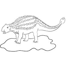 Ankylosaurus coloring image