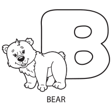 Upper Case Letter B Coloring Pages to Print