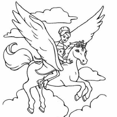 barbie and the magic of pegasus coloring pages - Barbie Coloring Page