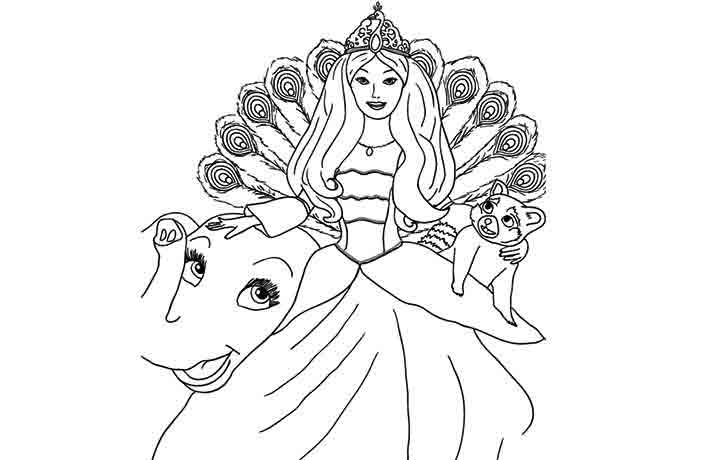 island princess barbie coloring pages - photo#12