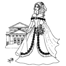 Barbie Fashion Girl Coloring Page