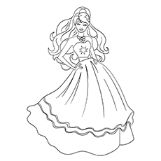 Free Printable Coloring Worksheets of Barbie Fashion Fairytale