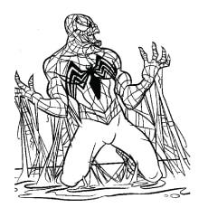 Black Spiderman Pics to Color