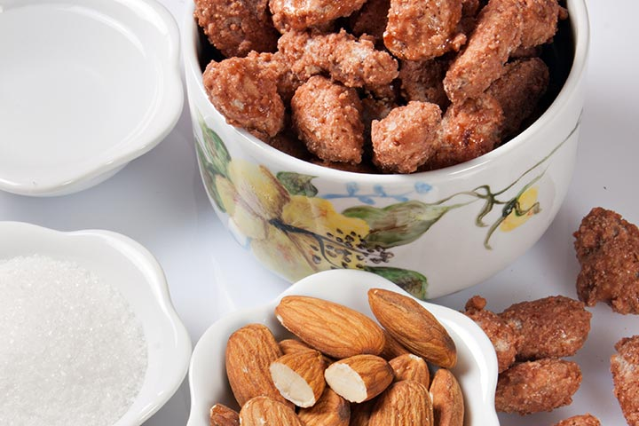 Chocolate candied almonds