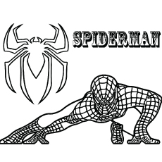 Coloring Pages Of Crouching Spiderman Free