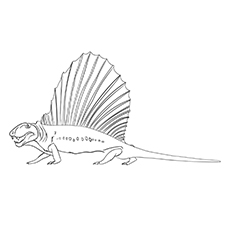 Dinosaur Dimetrodon Printable Coloring Pages for Kids