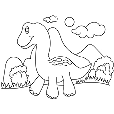 Dinosaur Baby Picture to Color