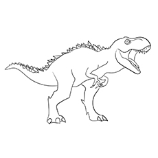 Dinosaur t rex Coloring Page for Free