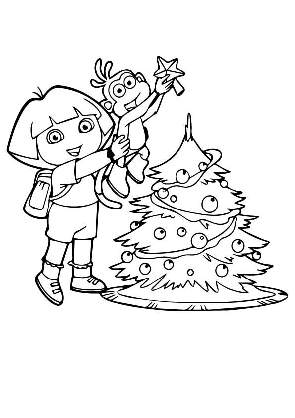Dora-Decorating-the-Christmas-tree