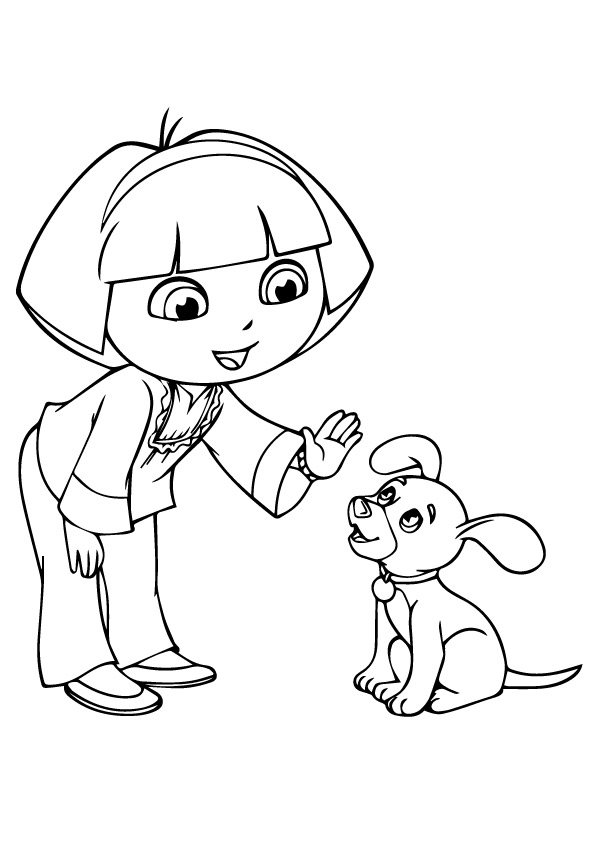 Dora-talking-with-dog