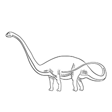 Drachiosaurus Coloring Sheet for Kids