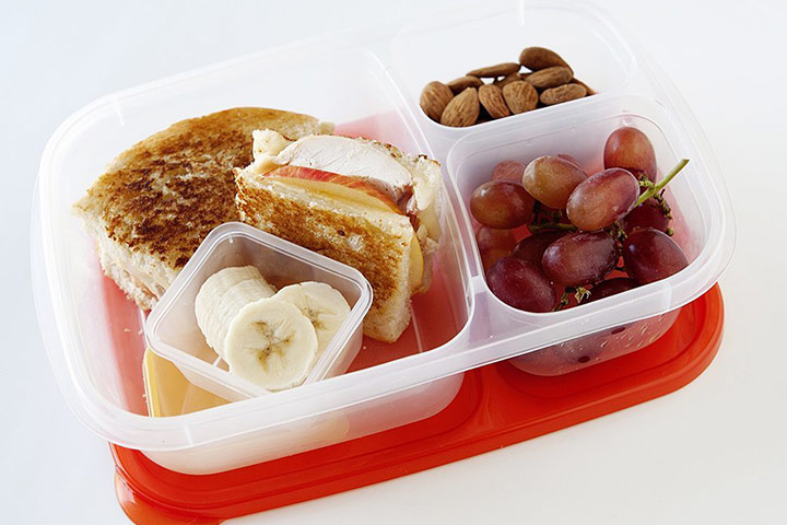 EasyLunchboxes Three-compartment Bento Lunchbox