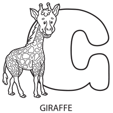 Alphabet G Coloring Page to Print
