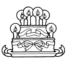 Happy Birthday Coloring Pages Free Printables - coloring page birthday cake no candles