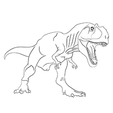 Giganotosaurus Dinosaur Coloring Pages Free Printable