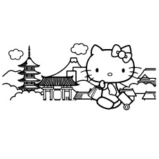 Hello Kitty Traveling to Color for Kids