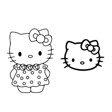 Hello Kitty Face Mask Coloring Sheet to Print