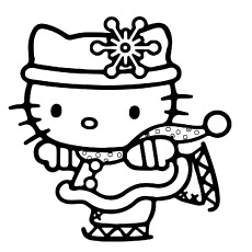 hello kitty celebrating christmas coloring pages free print