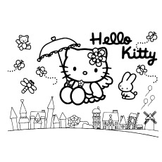 Hello Kitty Flying With Friends