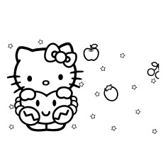 Hello Kitty in Dreams to Color Sheet