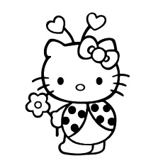 Hello-Kitty-in-ladybug-sute