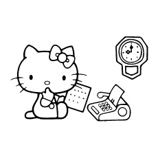 Hello Kitty Taking Paper to Color