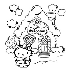 Hello Kitty Loveable House to Print Pictures