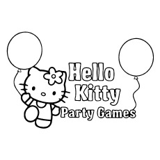 Printables Hello Kitty Party Coloring Games