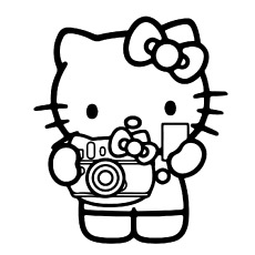 Hello Kitty Coloring Sheets of taking Photography