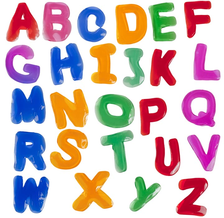 Jelly letters