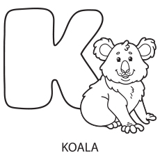 Alphabet K Coloring Pages