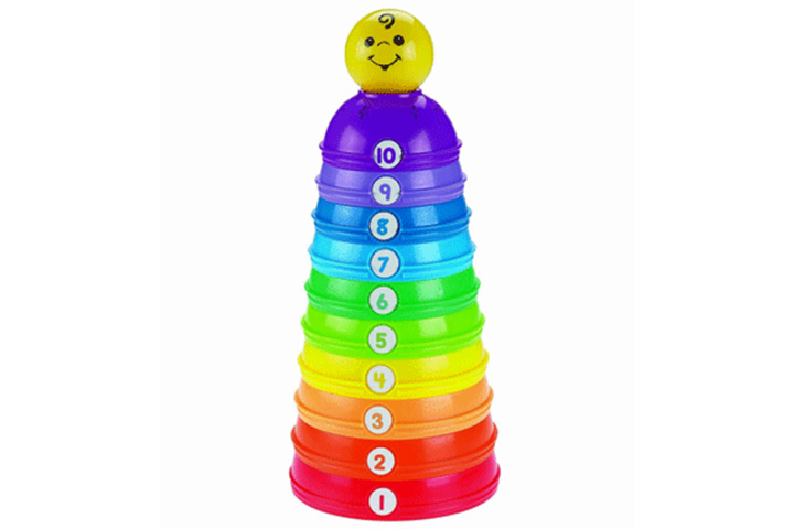 Mattel Fisher Price Brilliant Basics Stack And Roll Cups