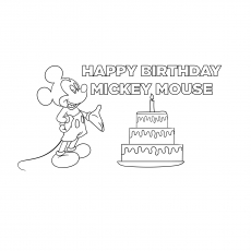 Mickey Celebrating Birthday