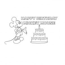 Mickey Celebrating Birthday