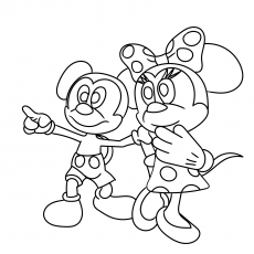 Mickey Having Fun with Minnie