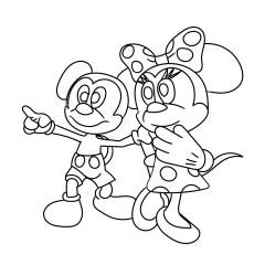 Mickey Having Fun with Minnie