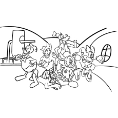 Mickey Mouse Club House Coloring Page Printable