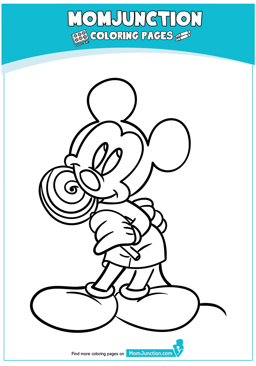 Mickey-Mouse-Eating-Lolipop