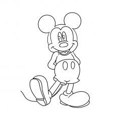 Mickey Mouse is Happy