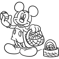 Printable Coloring Sheets of Mickey Mouse with Waster Egg