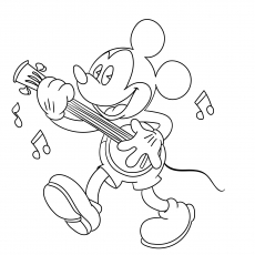 Mickey Playing Music